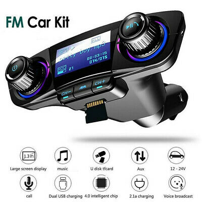 BT Car FM Transmitter MP3 Player Hands Free Radio Adapter Kit With USB Charger • 9.82£