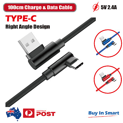 AU5.95 • Buy Type C 90 Degree Right Angle USB C Fast Data Sync Charging Charger Cable New