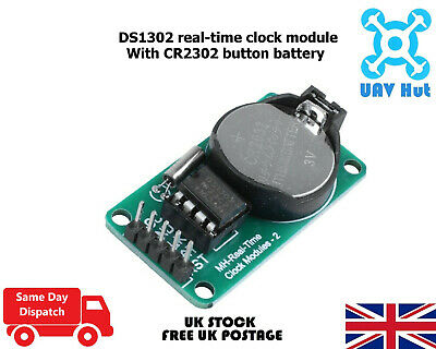 DS1302 Real-time Clock Module Real-time Module CR2302 Button Battery Arduino RPi • 3.49£