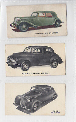 Kellogg's 1949 Motor Cars (2 Black & White, 1 Colour) 3 Cards - Lot 6 • 0.99£