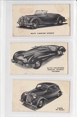 Kellogg's 1949 Motor Cars (black & White) 3 Cards - Lot 4 • 0.99£