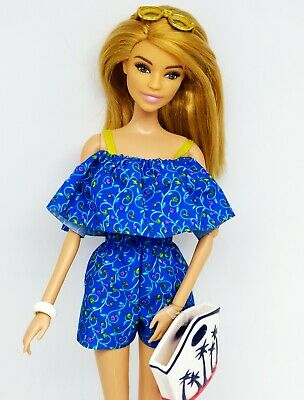 Vacation Barbie Doll, Fully Articulated, Comes With Shoes + Accessories, Ooak 🌴 • 24.90£