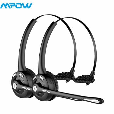 Mpow Pro Truck Driver Wireless Bluetooth Office Headset Headphone For Skype 2Pcs • 34.77£
