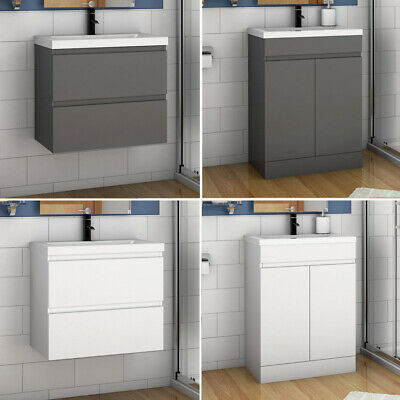 500 Bathrom Vanity Unit With Basin Drawer Door White Grey Wall Hung Freestanding • 139.99£