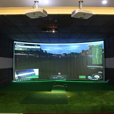 Fantastic Golf Ball Simulator Impact 300X200cm Display Projection Screen Indoor • 89.99£