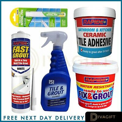 Grout Cleaner Floor Wall Bathroom Kitchen ANTI-MOULD WHITE Ready To Use • 2.98£