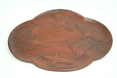 Vintage Carved Wooden Flying Ducks Platter/Wall Hanging/Decor/14  X 11  • 14.24£