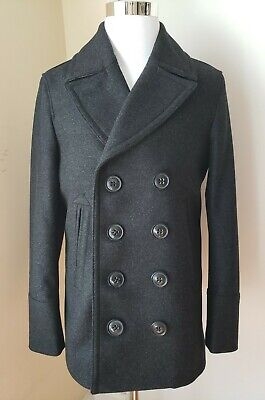 $790 • Buy Nwt Burberry Mens Wool Peacoat  Dark Charcoal Size 50/54 US M/XL Wool/cashmere