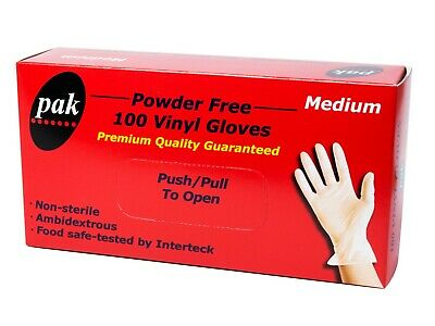 AU13.95 • Buy Disposable Gloves Vinyl 100pcs Latex & Powder Free / Latex Free & Powdered