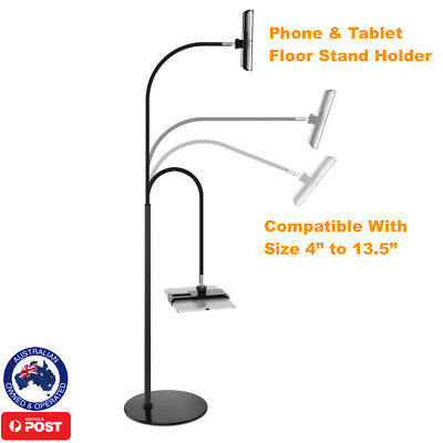 AU49.95 • Buy Iphone Ipad Kindle Tablet Floor Stand Holder Compatible All Size 4 In - 13.5 In