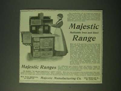 $16.99 • Buy 1900 Majestic Manufacturing Co. Ad - Majestic Malleable Iron And Steel Range