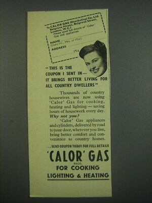 £12.05 • Buy 1949 Calor Gas Stoves Ad - This Is The Coupon I Sent In - It All Brings Better
