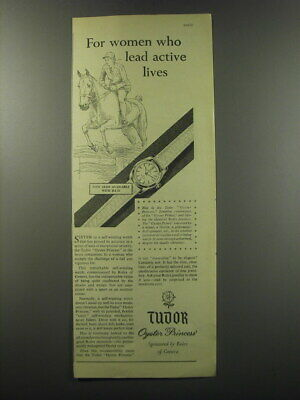 $ CDN21.45 • Buy 1955 Rolex Tudor Oyster Princess Watch Ad - For Women Who Lead Active Lives
