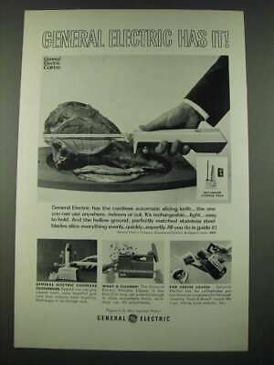 $ CDN22.40 • Buy 1965 General Electric Ad - Cordless Automatic Slicing Knife, Portable Cleaner