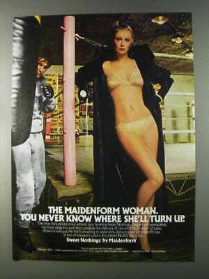 $16.99 • Buy 1980 Maidenform Sweet Nothings Bra And Bikini Ad - Never Know