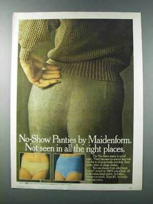 $16.99 • Buy 1981 Maidenform No-Show Panty Ad - Not Seen In Places