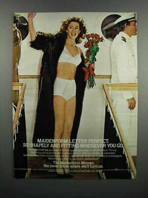 $16.99 • Buy 1983 Maidenform Letter Perfect Bras And Bikinis Ad
