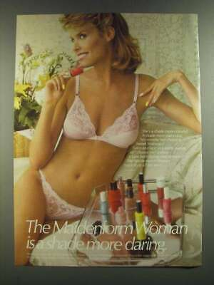 $16.99 • Buy 1986 Maidenform Sweet Nothings Front Close Bra And Strink Bikini Ad