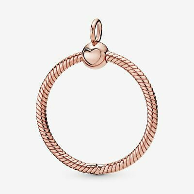 Sterling Silver Moments Medium O Pendant Charm Rose Gold Bead Pandora Size Gift • 22.99£