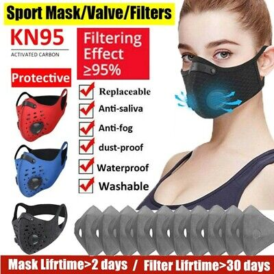 $ CDN7.49 • Buy Outdoor Reusable Cycling Mouth Muffle Face Shield +10pc Activated Carbon Fliters