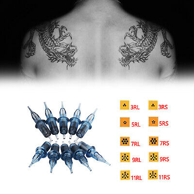 $ CDN14.72 • Buy 10pcs Disposable Tattoo Needle And Tube With 3/4 Grip And Tip Standard Taper T3