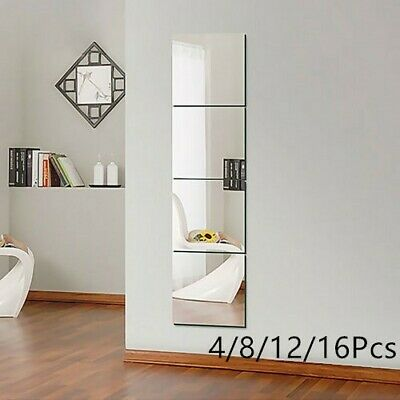 New Plastic Wall Mirror Tiles Anti-shatter Safety Acrylic Perspex Sheet 30*30cm • 7.99£