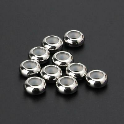 10Pcs Stainless Steel Rubber Insert Stopper Spacer Beads For Add-a-Bead Bracelet • 2.64£