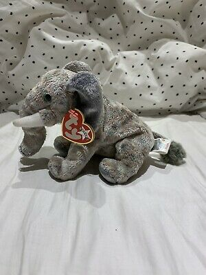 Ty Beanie Baby POUNDS The Elephant TAGS 2002 • 5.50£