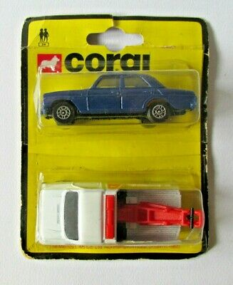 Corgi Juniors 1981 Twin Pack - Mercedes 240 - Ford Recovery Truck • 22£