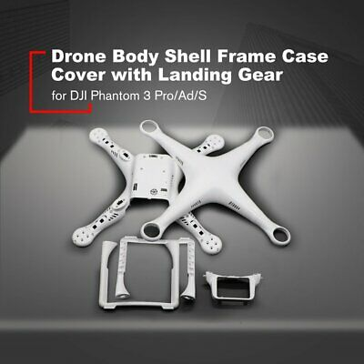 AU54.22 • Buy Drone Body Shell Frame Case Cover With Landing Gear For DJI Phantom 3 Pro/Ad/S