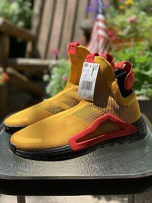 $ CDN93.03 • Buy Adidas N3xt L3v3l Laceless Sneakers Gold Red Next Level Size 11 🔥 F36292 NEW