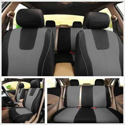$ CDN33.96 • Buy Auto Seat Protect Cover Full Set Polyester Fabric Universal Fit For 5-Seats Car