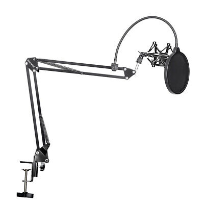 Neewer NB-35 Microphone Suspension Boom Scissor Arm Stand With Mic Clip Holder • 25.99£