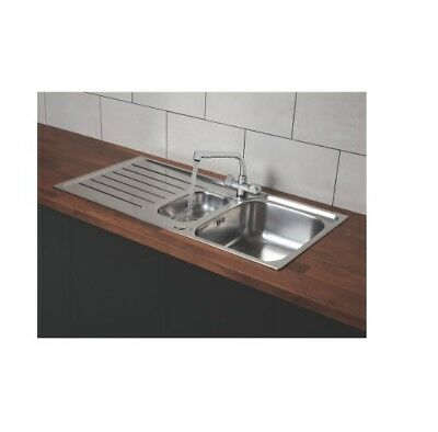 Franke Reno Danube Stainless Steel Inset Sink & Mixer Tap 1.5 Bowl 1000 X 500 D6 • 149.99£