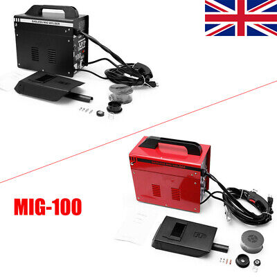 UK MIG-100 Welder Gasless  NO Gas 90A Portable Welding Machine Kits 240V W/ Mask • 116.99£
