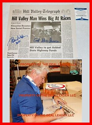£135.07 • Buy 🔥 Tom Wilson Back To The Future Signed Hill Valley Newspaper Biff Beckett PSA
