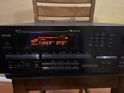 $249.99 • Buy RARE! Nakamichi AV-2 Audio/Video Stereo Receiver ! Condition Is Used.
