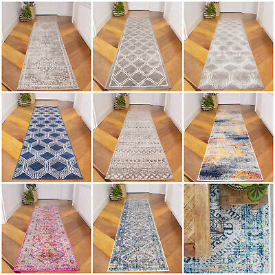 Modern Hallway Runner Rugs Traditional Moroccan Carpet Runners Trellis Runners • 29.95£