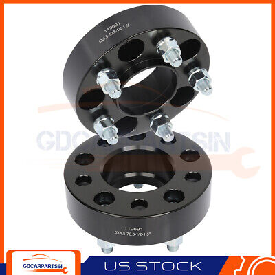 $47.43 • Buy (2) 1.5  Thick Wheel Spacers 5x4.5 1/2  Studs For Ford Mustang Edge Ranger Black