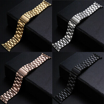 $ CDN26.35 • Buy Stainless Steel Strap For Apple Watch Band All Series IWatch 38mm 42mm 40/44mm