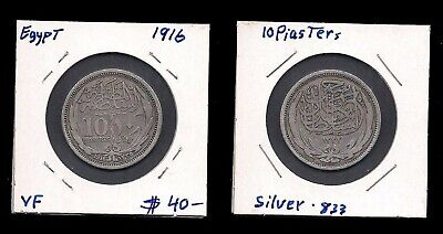 $24.99 • Buy Egypt - 10 Piasters 1916 - Silver Coin - V.f.