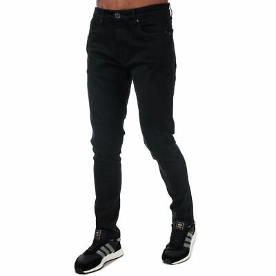 Men's Ringspun Oberon Zip Fly Skinny Fit Jeans In Black • 21.94£