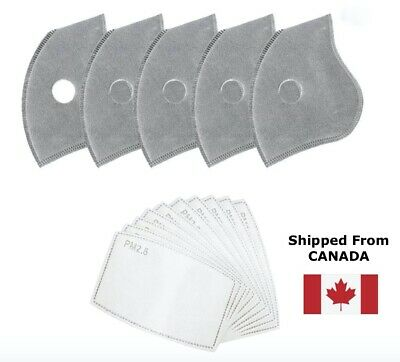 $ CDN5.99 • Buy 5 Layer Face Mask Replacement Filters PM2.5 Activated Carbon Mask Filters 2x4x10