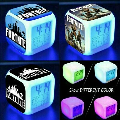 AU17.99 • Buy FORTNITE GAME Color Changing Night Light Alarm Clock Toy Game Gift For Boys Kids