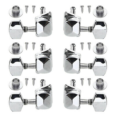 AU7.59 • Buy 6x Electric Acoustic Guitar Tuners Machine Head Tuning Pegs 3R+3L Silver