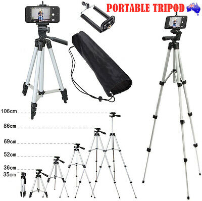 AU13.95 • Buy Adjustable Camera Tripod Mount Stand Phone Holder For IPhone 11 XS MAX Samsung