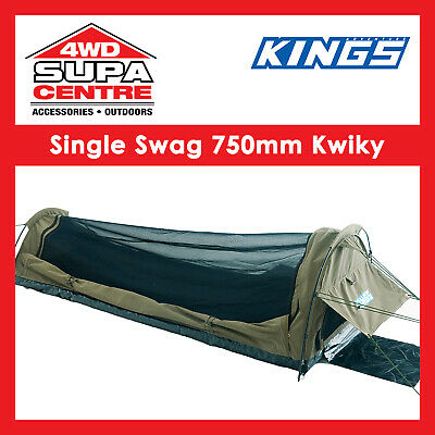 AU149 • Buy Canvas Camping Hiking Adventure Kings Single Swag Tent Dome Kwiky Waterproof