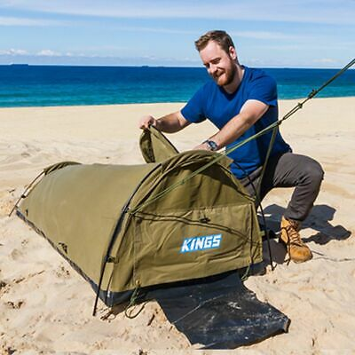 AU119 • Buy Adventure Kings Single Swag 750mm Kwiky Tent Dome 4WD Outdoor Camping Hiking 4x4