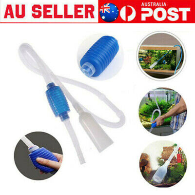 AU8.99 • Buy Aquarium Fish Tank Water Filter Gravel Vacuum Cleaning Cleaner Siphon Pump AU