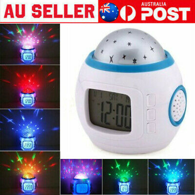 AU19.99 • Buy Kids Sky Star LED Night Light Projection Digital Musical Alarm Clock Thermometer